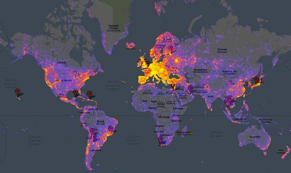 google maps lugares mais fotografados